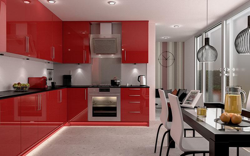 Wärmere Farben Wie Rot Sollen Den Appetit Anregen Und Sind Eine  Ausgezeichnete Option Für Küchen. Rot Ist Unglaublich Vielseitig Einsetzbar  Und Es Kann ...